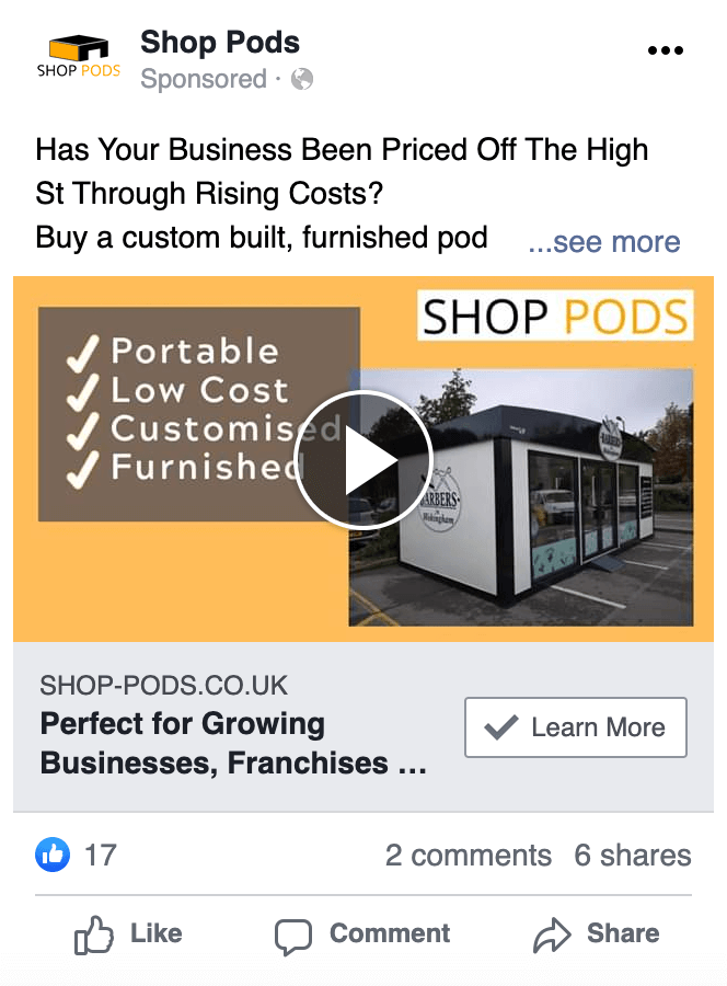 Shop Pods - Social Media