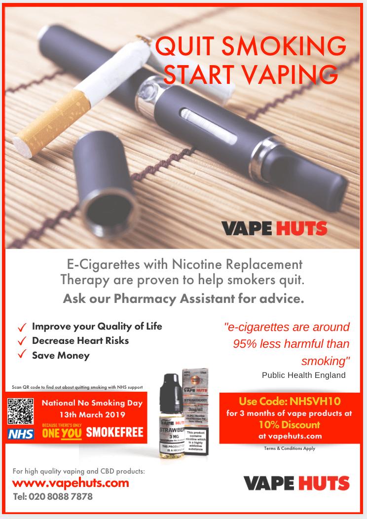 Vape Huts - Quit Smoking Poster